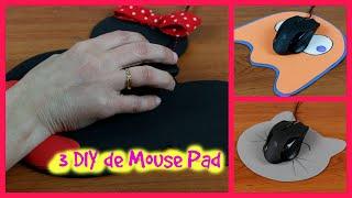 Mouse Pad personalizado – 3 DIY – Com descanso para o punho