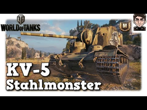 World of Tanks - KV-5, Stahlmonster als Top Tier [deutsch | Replay] thumbnail