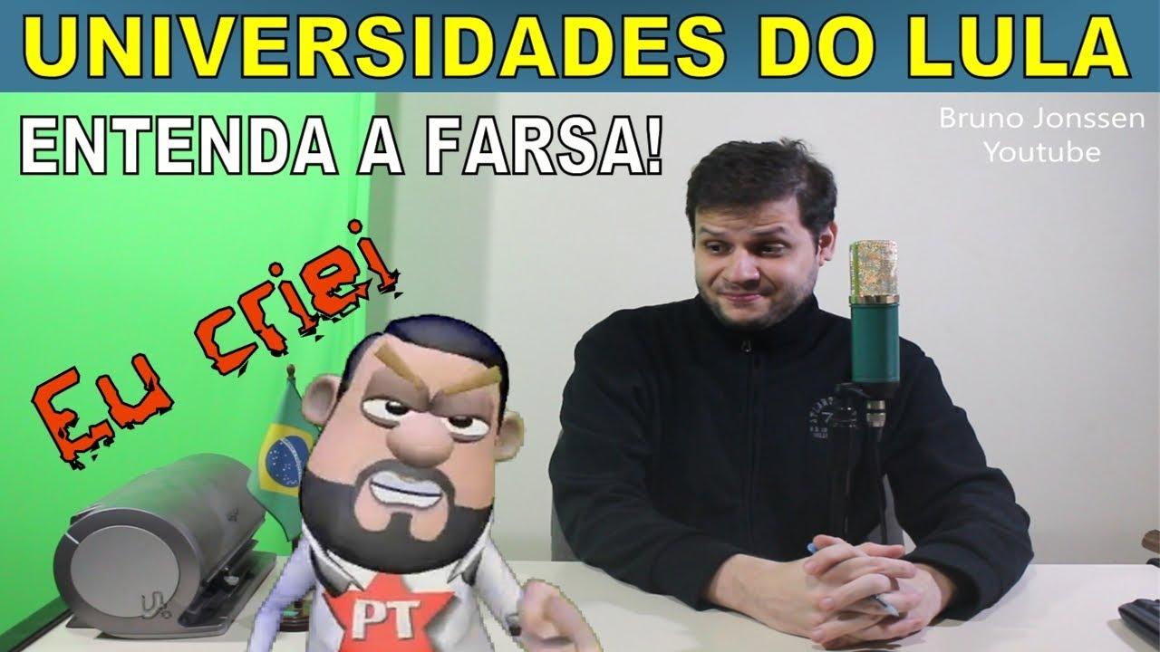 Lula, o maior criador de Universidades - Entenda a farsa!