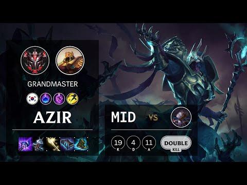 Azir Mid vs Orianna - KR Grandmaster Patch 10.16