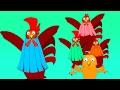 Galo Dedo Família | Rima de berçário | Canção para crianças | Nursery Songs | Rooster Finger Family