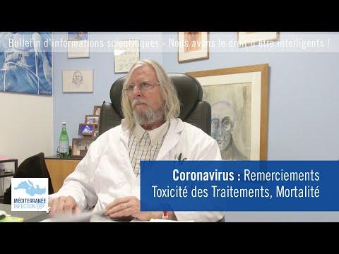 Coronavirus : Remerciements, Toxicité des Traitements, Mortalité