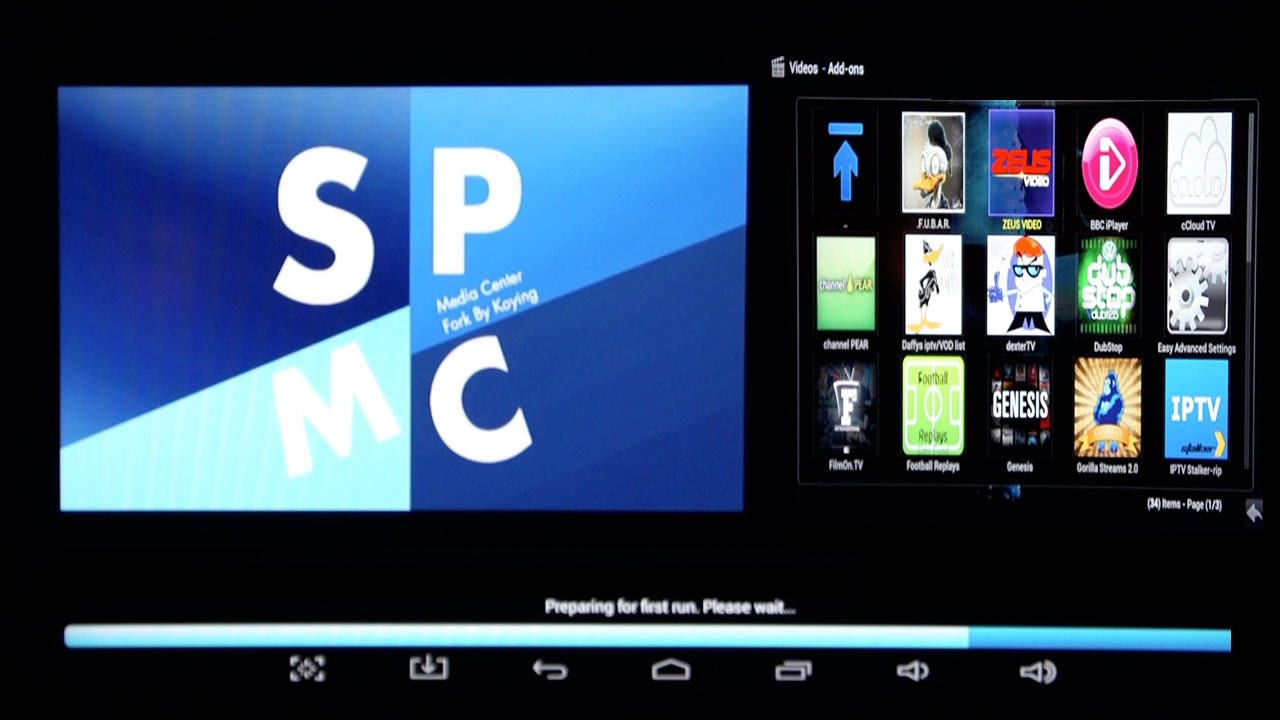 How to install SPMC XBMC Kodi App on Android TV Box