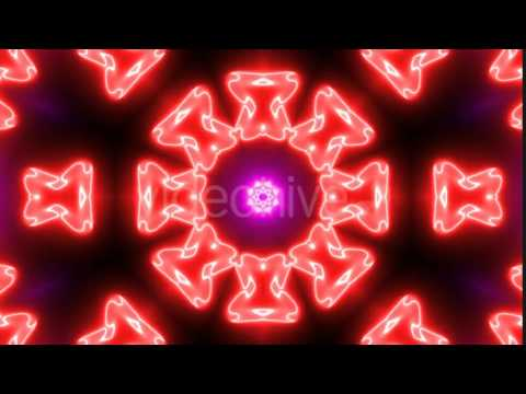 Royalty Free Motion Graphics   A Moving Kaleidoscope of Flower Patterns