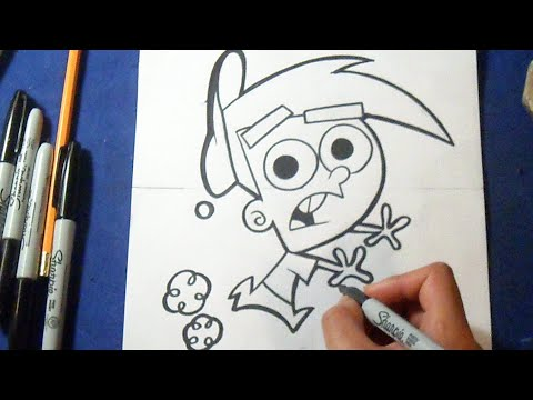 timmy turner how to draw