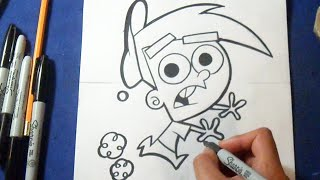 "Cómo dibujar a Timmy Turner ""Los Padrinos Magicos"" 