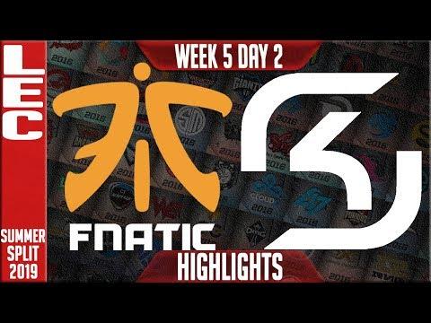 FNC vs SK Highlights | LEC Summer 2019 Week 5 Day 2 | Fnatic vs SK Gaming