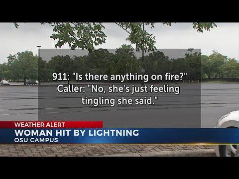 Woman struck by lightning on OSU campus