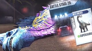 T-REX Vs T-REX Battle Stage 28 - Jurassic World The Game Epic Battles (IOS/ANDROID)