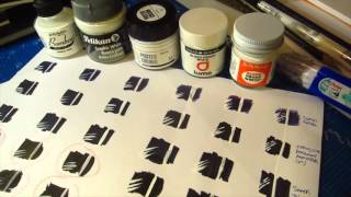 White paints over ink test!