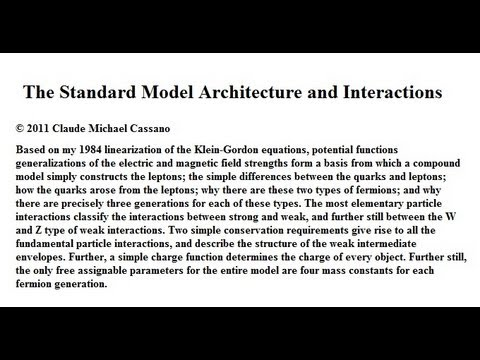 The Standard Model Architecture and Interactions 1
