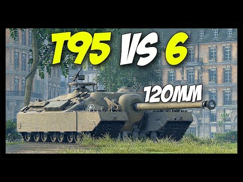 ► T95 vs 6, With 120mm! - World of Tanks T95 Gameplay thumbnail