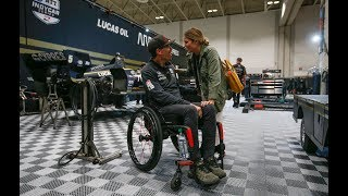 WICKENS WILD RIDE: Paraplegic IndyCar driver to lead Sunday's Honda Indy
