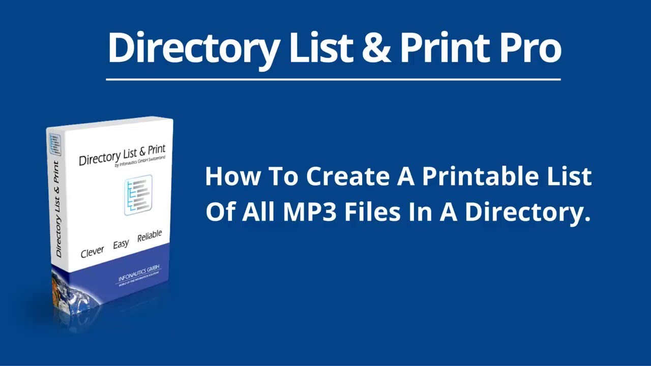 how to create a printable list of all mp3 files in a directory youtube