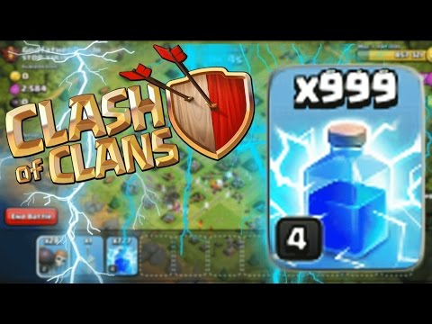 Clash of Clans - 1000 LIGHTNING SPELLS! See what happened!!