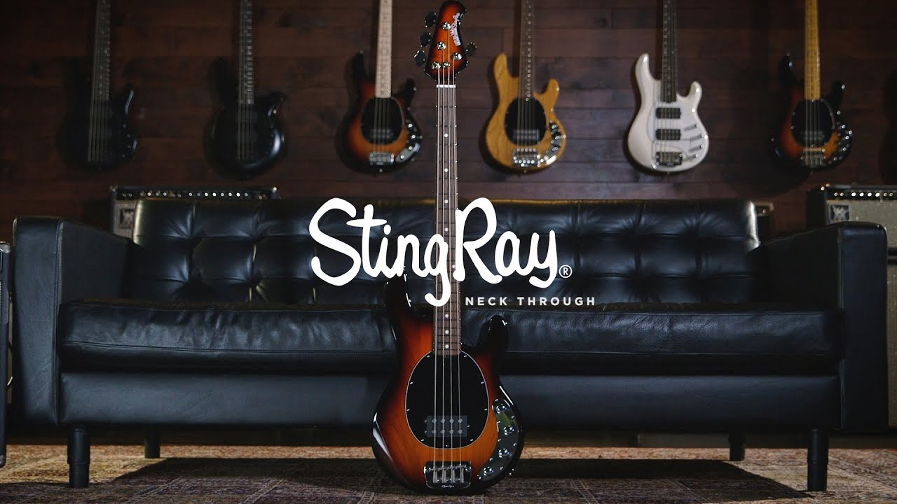 ernie ball music man stingray 4 neckthrough bass joe dart demos youtube. Black Bedroom Furniture Sets. Home Design Ideas