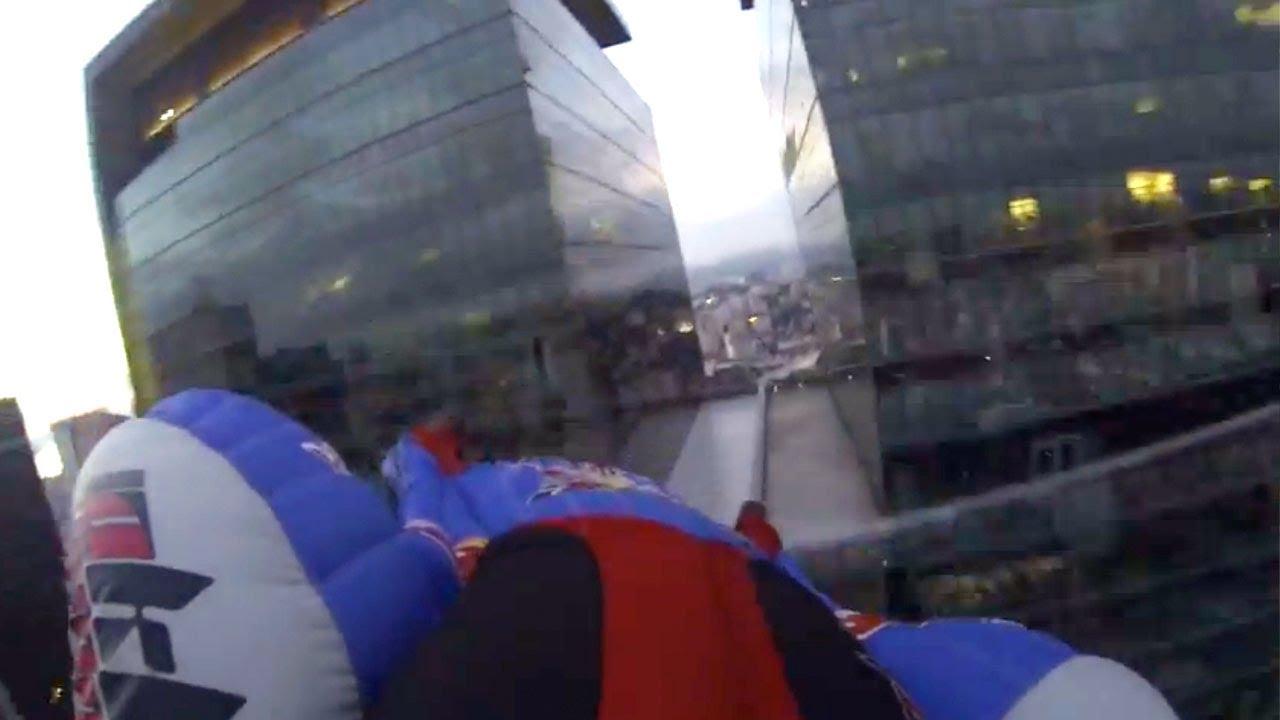Urban wingsuit flying into Rio de Janeiro - Ludovic Woerth & Jokke Sommer