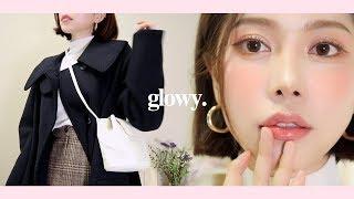 (Eng CC) GRWM • GLOWY MAKEUP 촉촉 보습 메이크업💧같이 준비 해요 (ft.투머치토커)