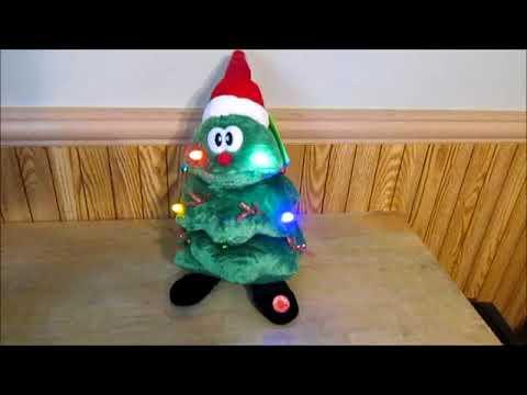 Singing Light Up Christmas Tree Plush Rockin Around the Christmas Tree