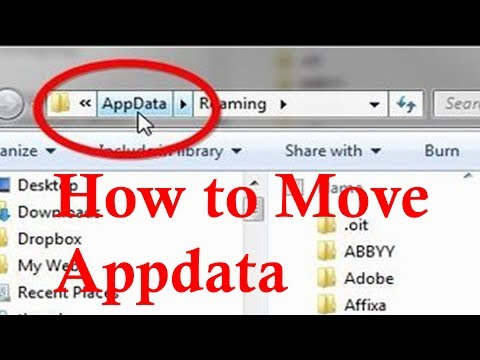 How to move Appdata to a Different Drive