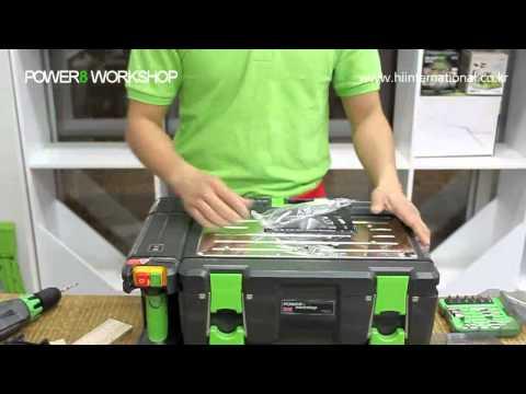 Power8 workshop banco da lavoro ultra compatto con 8 for Banco fresa autocostruito