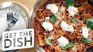 One-pot Skillet Lasagna Recipe | Get The Dish