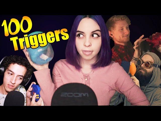 ASMR 100 TRIGGERS IN 10 MINUTES / 100 ТРИГГЕРОВ ЗА 10 МИНУТ АСМР