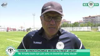 Teknik Direktörümüz Mustafa Reşit Akçay yeni sezon fikstürünü değerlendirdi