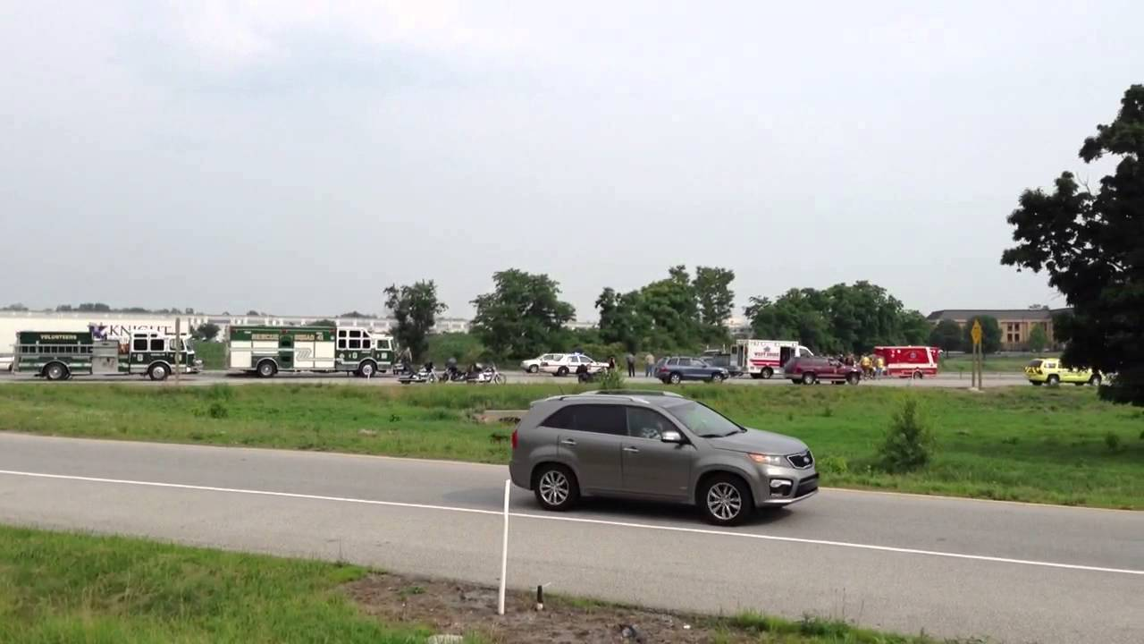 Motorcycle accident scene Chambersburg, Pa I-81 06/13