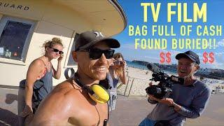 Bag Full of Cash & Gold Found Buried (Im Filmed by BONDI RESCUE) HUGE Storm Hits Bondi Beach!!