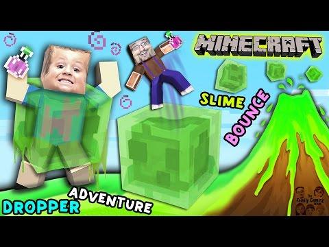 Minecraft Slime Bounce | FGTEEV Dropper Parkour Adventure Mini-Game Map
