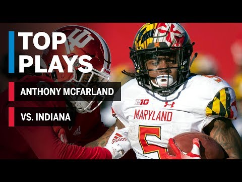 Top Plays: Anthony McFarland Highlights vs. Indiana Hoosiers | Maryland | Big Ten Football