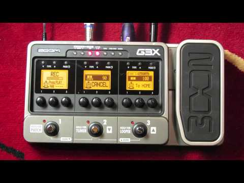 GUITAR TONE - ZOOM G3X DEMO