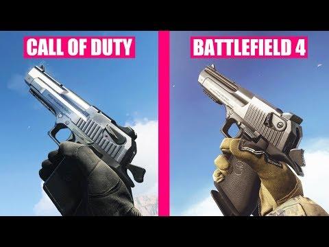 Call Of Duty Modern Warfare 2019 Vs Battlefield 4 Weapons Comparison