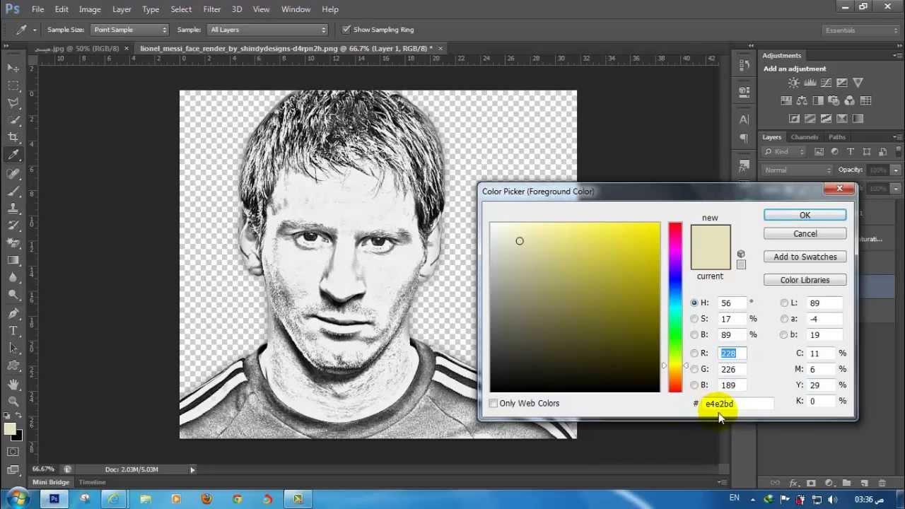 تحويل الصورة الى رسم ملون بالفوتوشوب