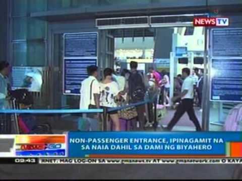 NTG: Non-passenger entrance, ipinagamit na sa NAIA dahil sa dami ng biyahero