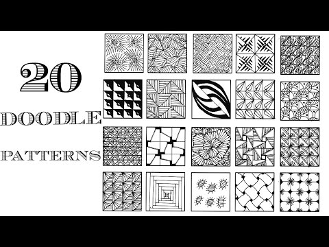 Easy 20 Zentangle Patterns | Doodle Patterns - YouTube