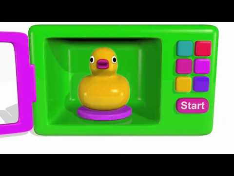 Colors for Children to Learn with Microwave and Blender Toy Appliance   Learn Colors with Vehiclesp