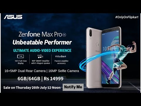 Asus Zenfone Max Pro M1 6GB RAM Launching on 26th July @ Rs 14999