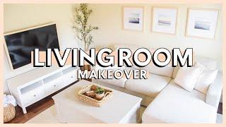 DIY LIVING ROOM MAKEOVER ON A BUDGET | living room decorating ideas 2021 + living room makeover
