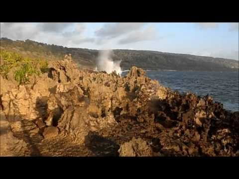 Christmas Island Blow holes