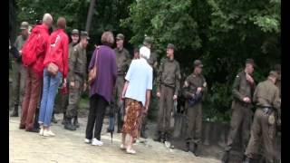 Военные охраняют площадь на открытии памятника Шептицкому во Львове