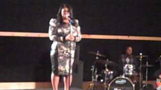 RootMagazineOnline.com- Kim Burrell sings I Believe In You & Me at her Press Conference in NYC