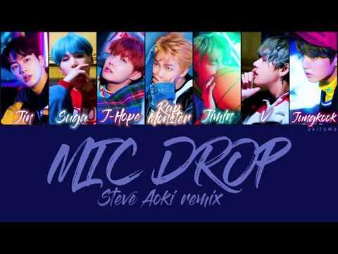MIC Drop (Steve Aoki Remix) - BTS (방탄소년단) [Han/Rom/Eng] Color Coded lyrics