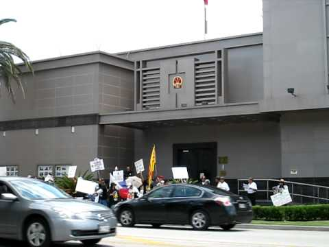 Houston, TX Protest @ China Consulate Part 4