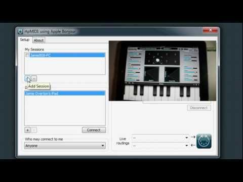 rtpMIDI To Ipad and Keyboard Tutorial - YouTube