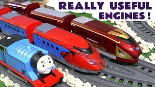Thomas and Friends Really Useful Engines with fast super trains of Spiderman and Iron Man TT4U