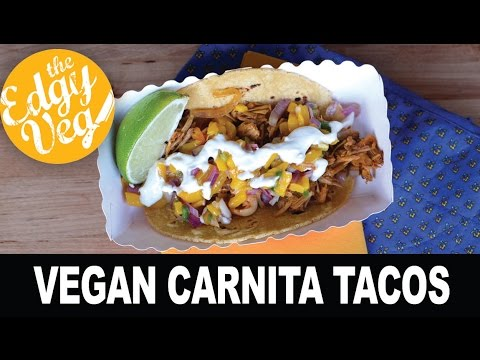 Vegan Recipe: Vegetarian Pulled Pork Tacos (Carnita Recipe)   The Edgy Veg