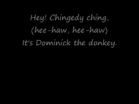 Dominick The Donkey Song With Lyrics By: Lou Monte - YouTube
