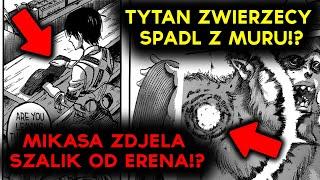 MIKASA WYRZUCIŁA SZALIK OD ERENA!? TYTAN ZWIERZĘCY SPADA Z MURU!? - Attack On Titan 118